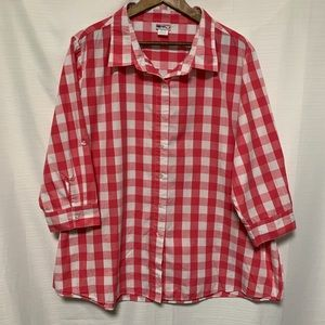 🦋American Sweetheart button down top size XXL